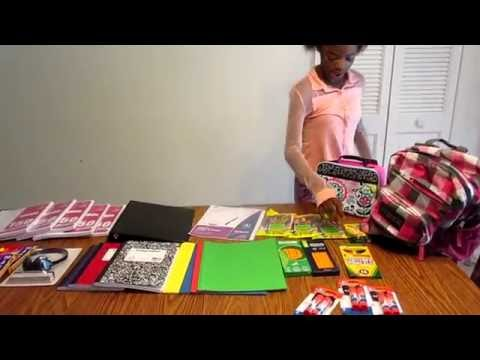 BACK TO SCHOOL HAUL 5TH GRADE SUPPLIES