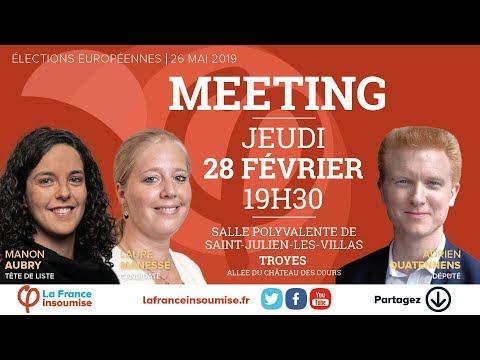Meeting de la France insoumise à Troyes - #TroyesFi