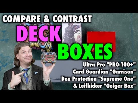 """A Review of Deck Boxes: Ultra Pro """"PRO-100"""", Card Guardian, Dex Protection """"Supreme One"""" and more"""