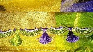 New Krosha Saree Kuchu Design 3 || New Crochet Saree Kuchu 3 || New Krosha Saree Kuchulu 3