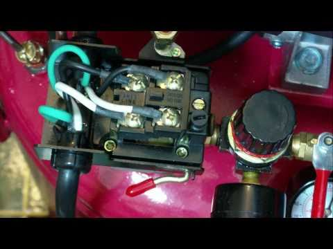 How to set the pressure switch on your Harbor Freight air compressor