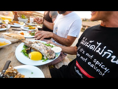 Lebanese Seafood - Eating LIONFISH In The Mediterranean Sea! | Batroun, Lebanon