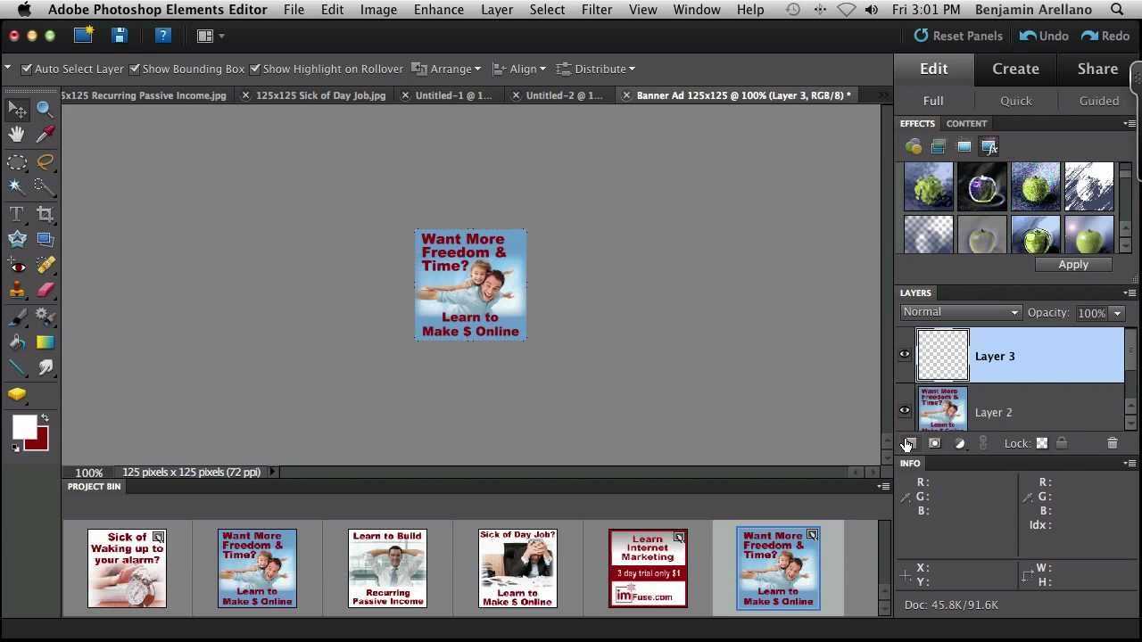 how to create animated banner ads