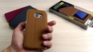 ОБЗОР: Оригинальный Кожаный Чехол-Книжка для Samsung Galaxy S7 SM-G930F Baseus с Окном и Подставкой