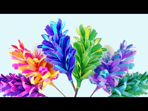 How to make Swirly Paper Hyacinths- DIY Curly Paper Flowers (Eti's etc)