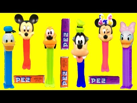 Disney Mickey Mouse Clubhouse Pez Dispensers with Minnie Mouse, Daisy, Donald Duck, Goofy and Pluto