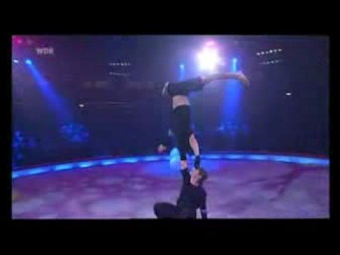 Duo Iroshnikov performing hand to hand acrobatics at Stars in der Manege (Circus Krone) 2006 [professional recording]