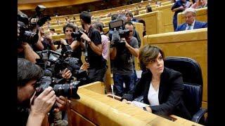 Soraya Sáenz de Santamaría responde a Puigdemont