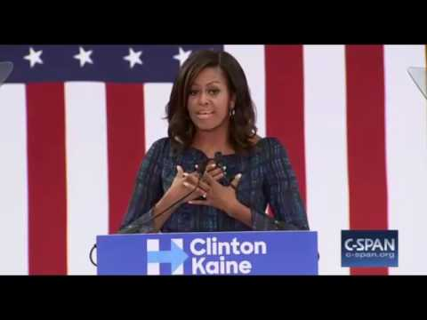 Michelle Obama RIPS Donald Trump While Campaigning For Hillary Clinton in Philadelphia