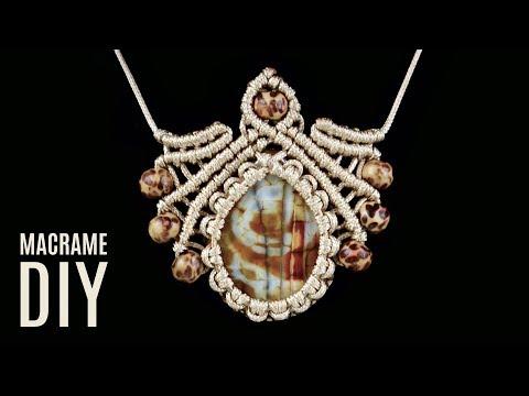 DIY Macramé Scarab Necklace Pendant Tutorial | Macrame School