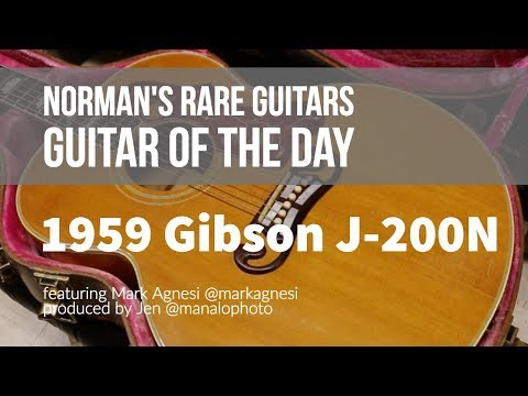Norman's Rare Guitars - Guitar of the Day: 1959 Gibson J-200N