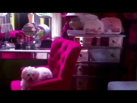 Room tour.Idea how to decorate , hot pink vanity- makeup room ( new decor -link below)