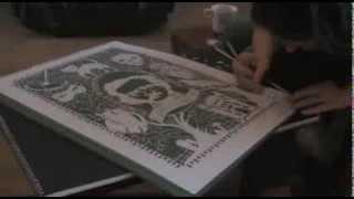 Time-lapse Edgar Allan Poe paper cut