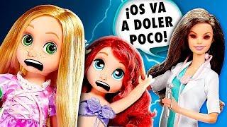 💊 ¡Las Princesas Bebés NO QUIEREN sus VACUNAS! │ Princesas de Disney Muñecas!