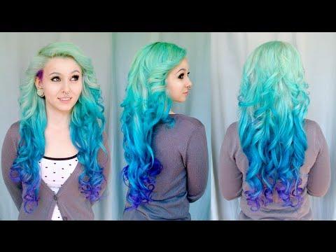 diy mermaid ombre hair on sarah sorceress tutorial by cira las vegas youtube