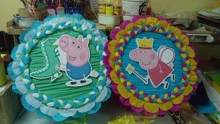Como hacer Piñata Tambor George Pig DIY