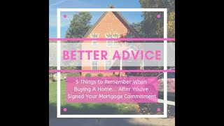 5 Things to Remember: Buying a Home