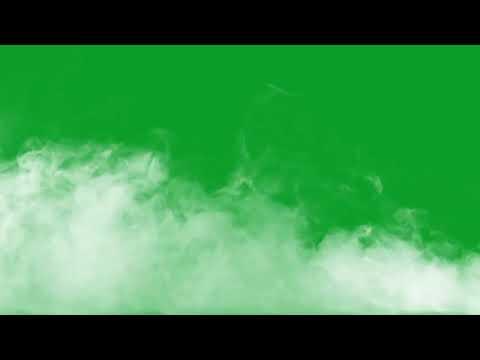 Белый дым на зелёном фоне.