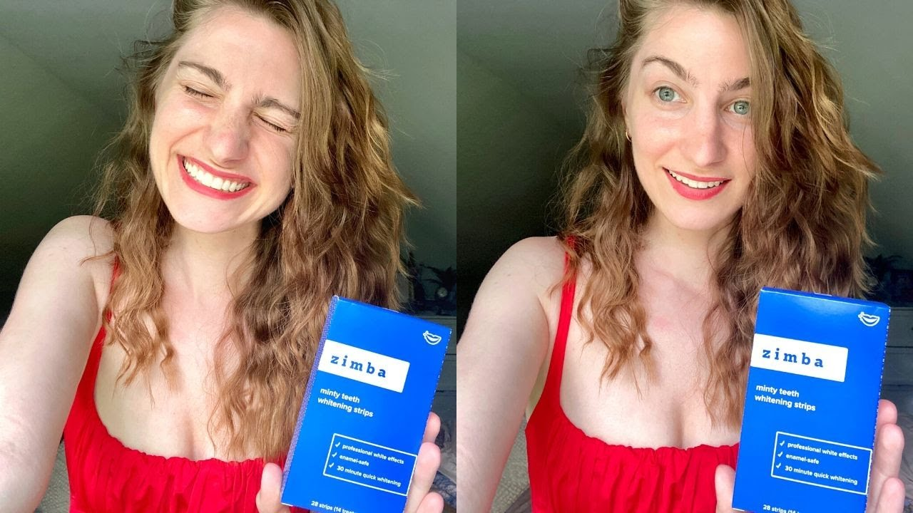 Zimba Whitening Strips Review Before After Youtube