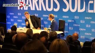 Bayerischer Ministerpräsident Markus Söder im Citydome Rosenheim