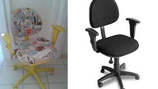 Faça você mesmo- Reformando cadeira de escritório por Laís Silva