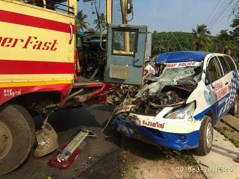 KSRTC Bus Accident with Police vehicle kerala