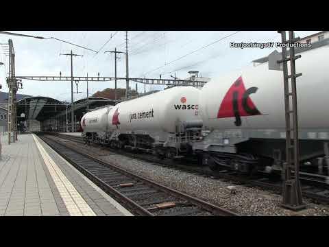 Trains at Olten Railway Station / Züge bei Olten Bahnhof 23/10/2017