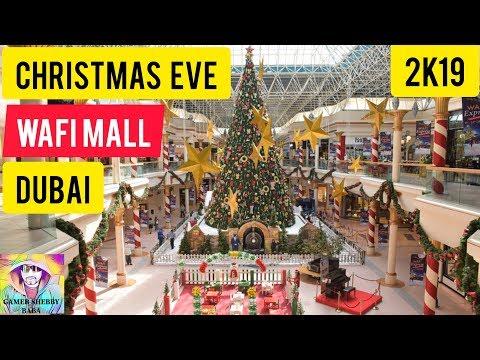 Christmas Celebrations In Dubai Wafi Mall 2019 In 4k