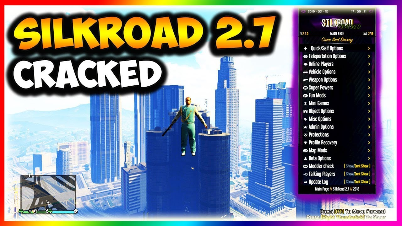 GTA 5 SILKROAD 2 7 MOD MENU FREE XBOX 360 + DOWNLOAD