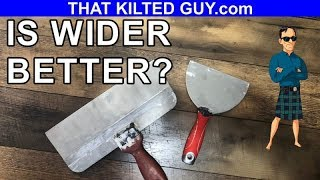 Why Wide Drywall Finish Knives Work Better