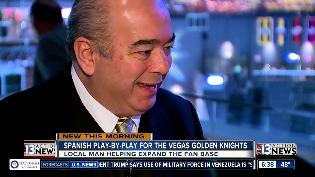 Meet the Hispanic voice of the Vegas Golden Knights