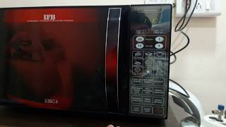 how to use ifb 23 liter convecion microwave model 23bc4 full demo