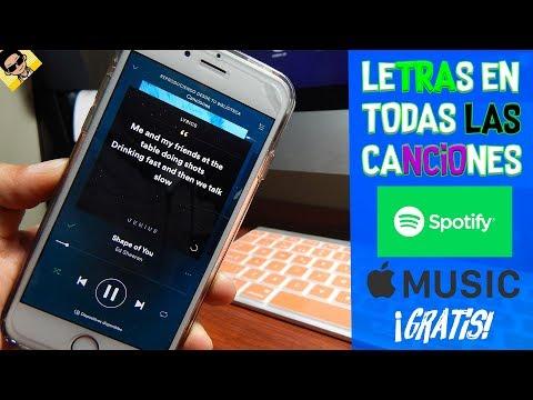 TENER LA LETRA DE TODAS LAS CANCIONES EN SPOTIFY Y    MUSIC FACIL 2018