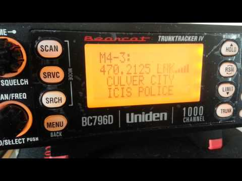 ICIS Interagency Communications Interoperability System with Uniden BC796D from Chatsworth, CALIF