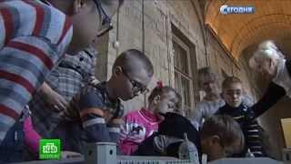 Слабовидящим детям дали прикоснуться к истории Гатчинского дворца