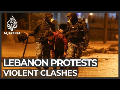 Dozens wounded as Lebanon's anti-gov't protests turn violent
