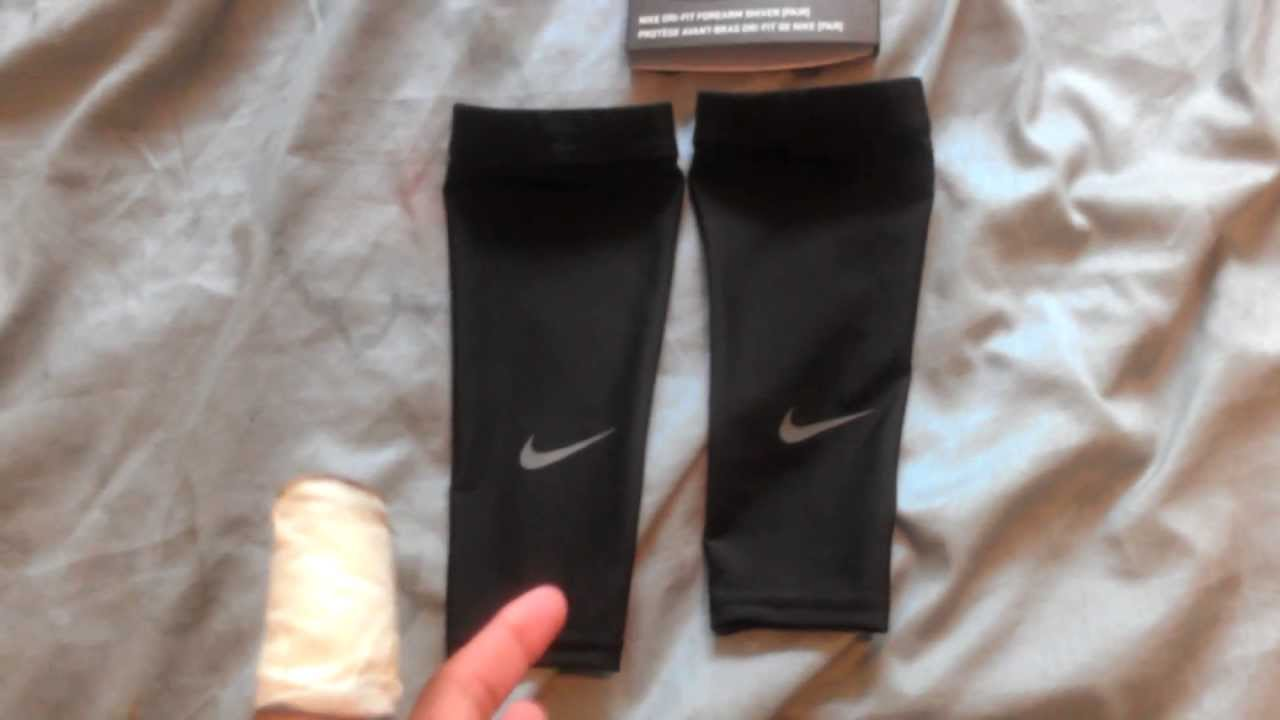 nike forearm sleeves review   youtube