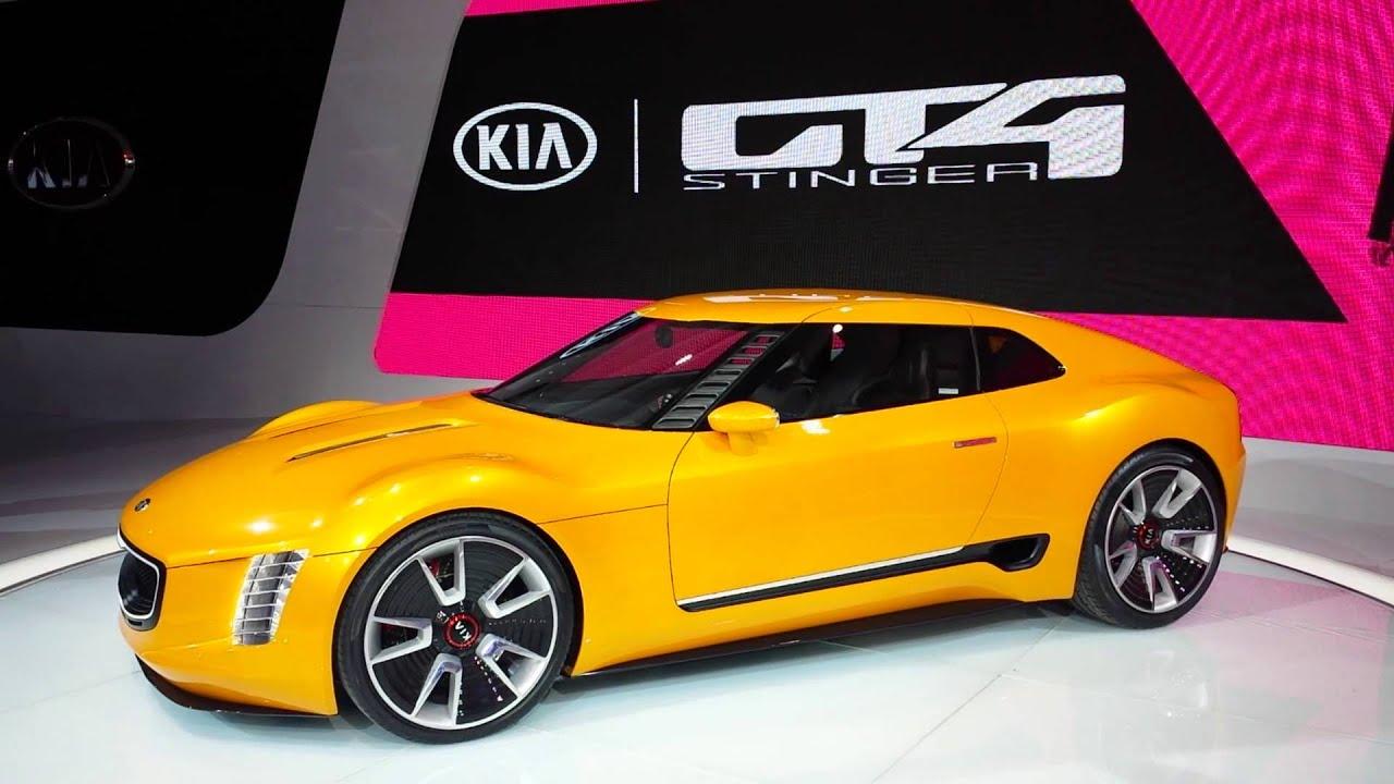 2016 Delhi Auto Expo Top 10 Concept Cars: KIA 2016 GT4 Stinger: Concept Car At Auto Show Detroit