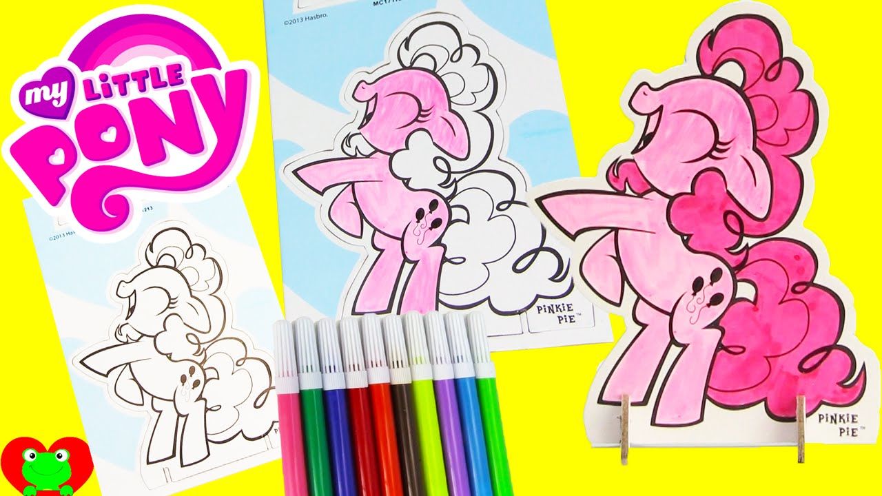 my little pony pinkie pie pop outz crayola coloring with shopkins