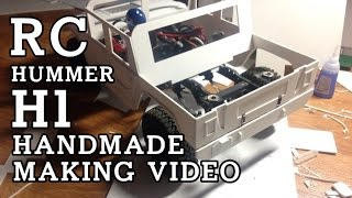 handmade rc car hummer H1 making and drive video 험머 알씨카