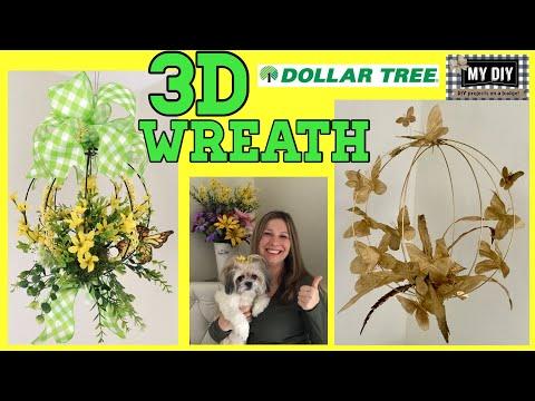 Dollar Tree 3D Wreath   Dollar Tree DIY   AMAZING!!