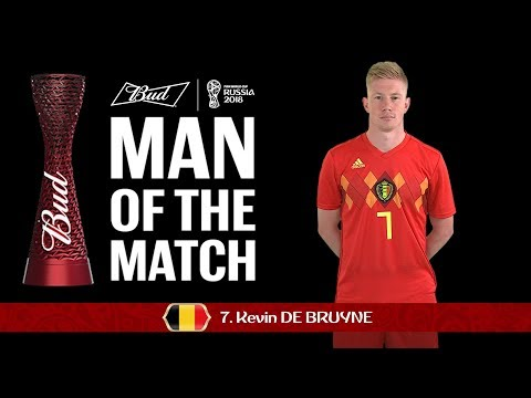 Kevin DE BRUYNE (Belgium) - Man of the Match - MATCH 58