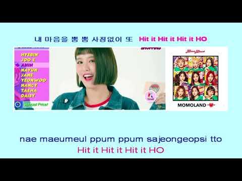 MOMOLAND 모모랜드 BBoom BBoom 뿜뿜 (Instrumental official + Lyrics)