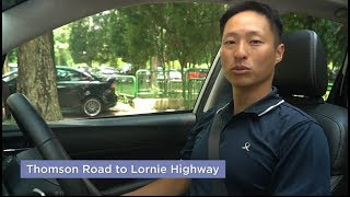 Travel Route from Thomson Road to Lornie Highway