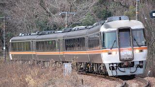 高山本線 キハ85系 急行 ぬくもり飛騨路号 坂祝カーブ