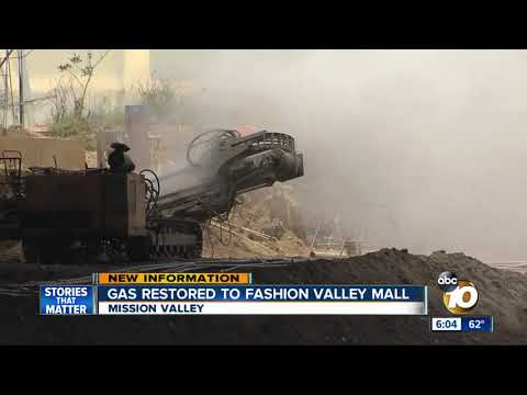 Gas restored to Fashion Valley Mall