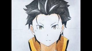 How to draw Natsuki Subaru (re:zero)
