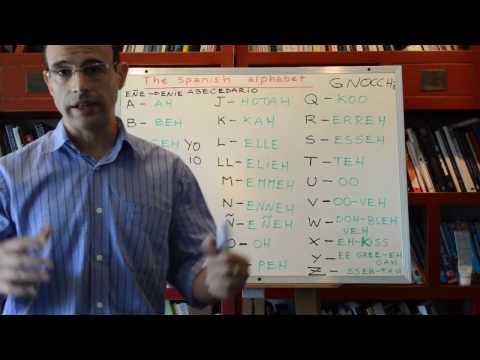 Spanish Alphabet + Spanish phonetics - Learn Spanish 2
