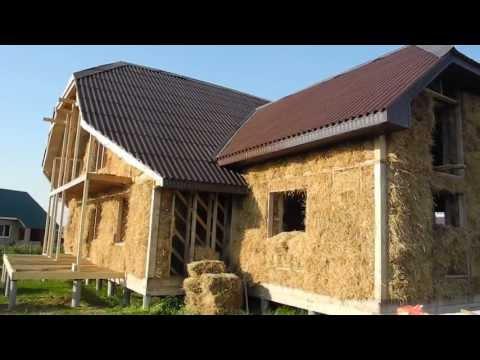видео: 2013-06-12 Хроника строительства дома из соломы
