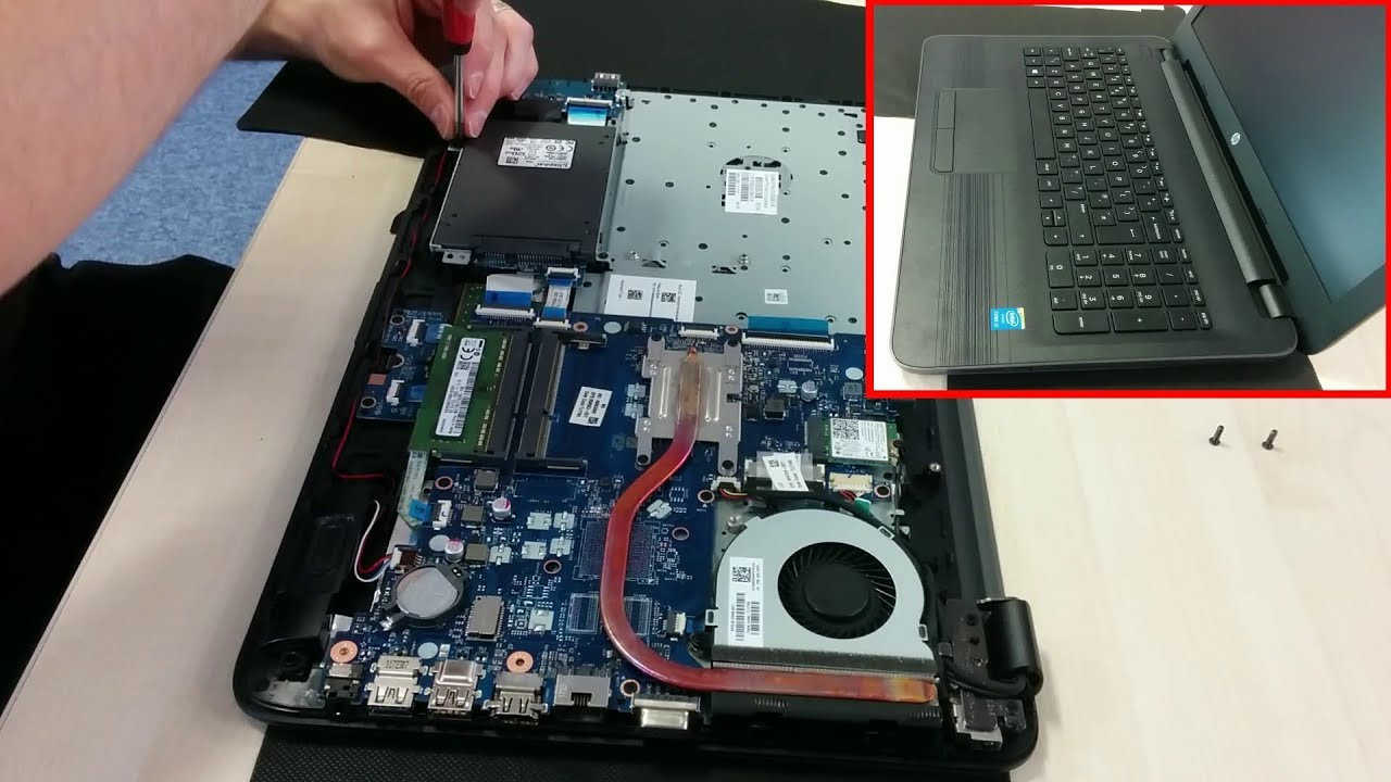 Hp 250 G5 Laptop How To Change Or Upgrade The Hard Disk Youtube